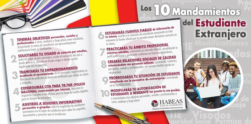10 mandamientos del estudiante extranjero