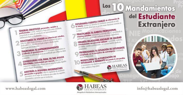 Los 10 Mandamientos del Estudiante Extranjero