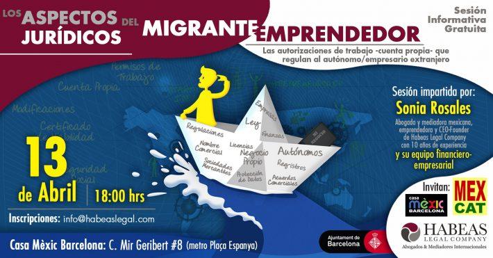 «Los aspectos jurídicos del migrante emprendedor»: sesión informativa gratuita -Abril-