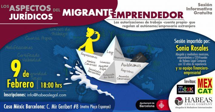 ¿Cuales son los aspectos jurídicos del Migrante Emprendedor en España?