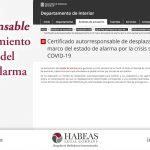 Certificado autorresponsable de desplazamiento en el marco del estado de alarma (Cataluña)