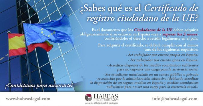 ¿Sabes qué es el Certificado de registro ciudadano de la UE?