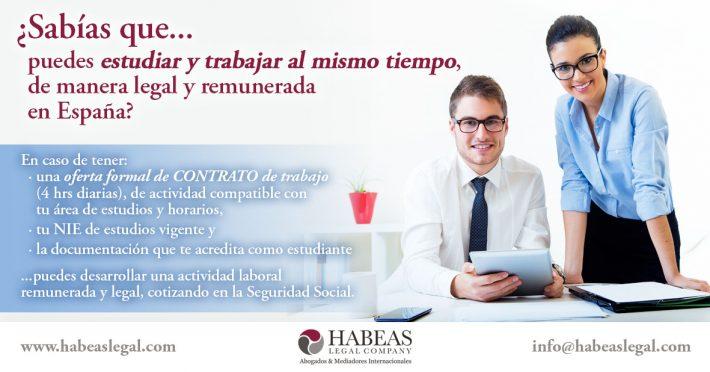 ¿Es posible trabajar legalmente como estudiante sin tramitar el permiso correspondiente (no prácticas, contrato de trabajo)?