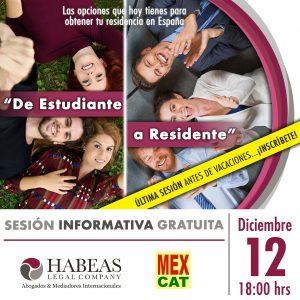 """De Estudiante a Residente 2019 calendar DIC 300x300 - """"De Estudiante a Residente"""" - sesión Diciembre 2019"""