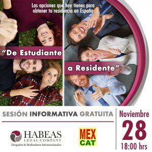 """De Estudiante a Residente 2019 calendar NOV 300x300 - """"De Estudiante a Residente"""" - sesión Noviembre 2019"""