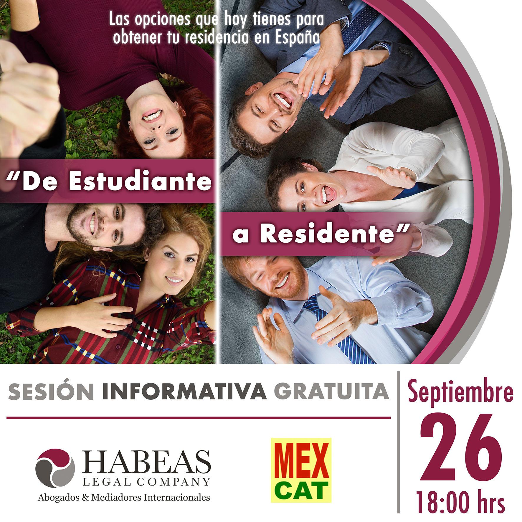 "De Estudiante a Residente 2019 calendar SEPT - ""De Estudiante a Residente"" - sesión Septiembre 2019"