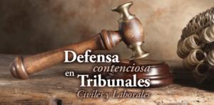 defensa en tribunales