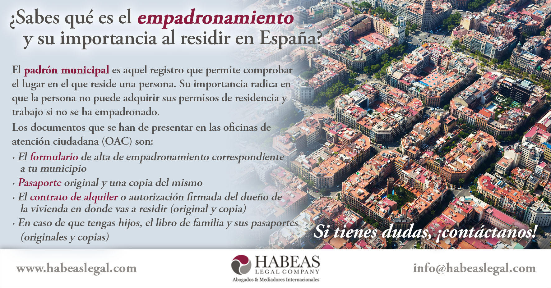 empadronamiento habeas legal