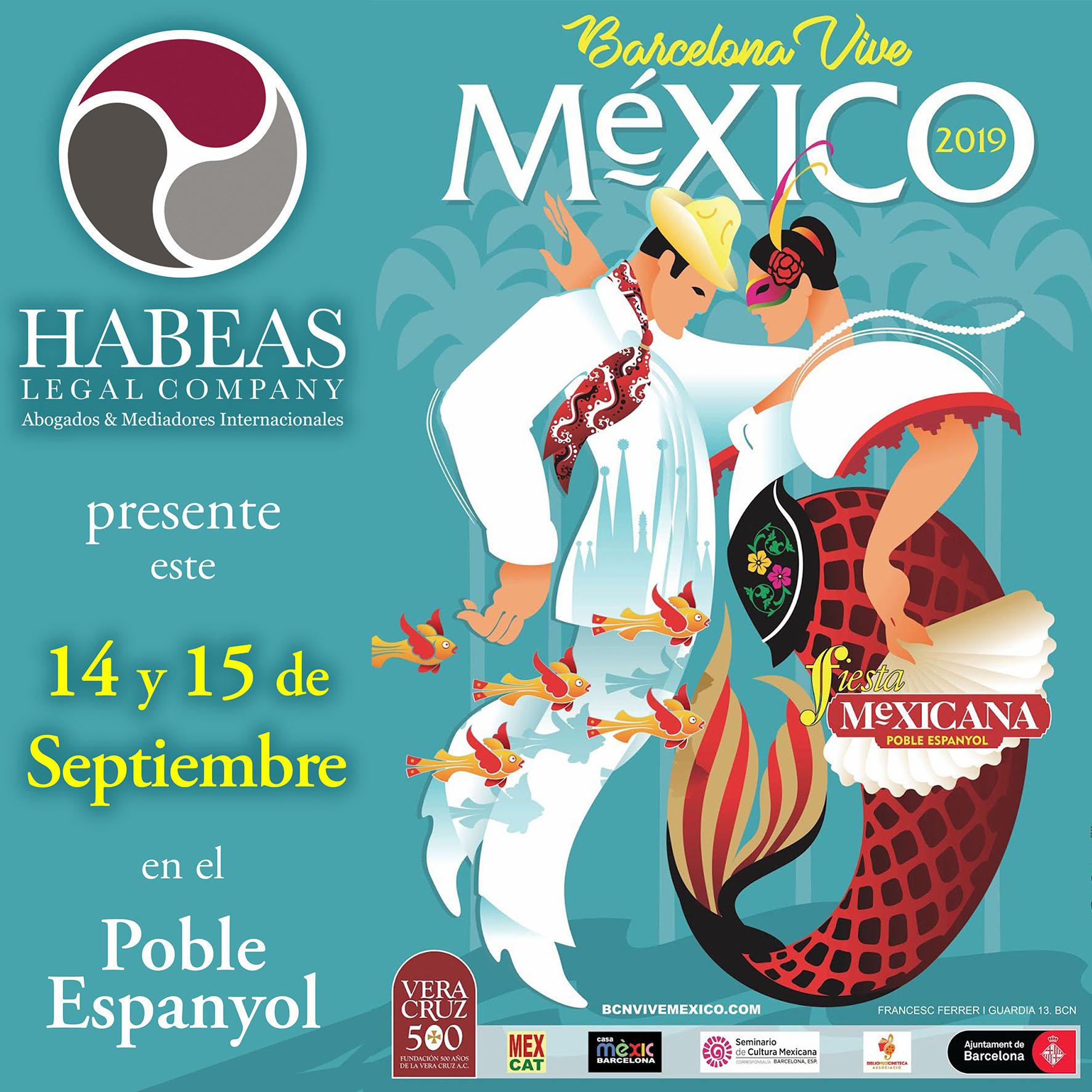 """Feria Vive Mexico 2019 habeas legal calendar - Feria """"Barcelona Vive México"""" con Habeas Legal - Poble Espanyol"""