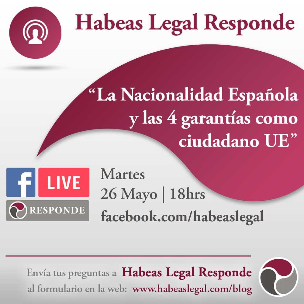 Habeas FB Live calendar 4 garantias UE 26May - La NACIONALIDAD ESPAÑOLA y las 4 GARANTÍAS como ciudadano UE - Facebook LIVE