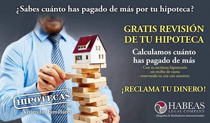 Hipotecas de las viviendas familiares habeas legalhabeas for Reclamar importe clausula suelo