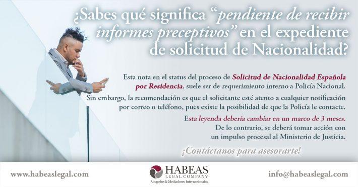 ¿Como va lo mío?  ¿Tu Tramite de Nacionalidad Española aparece pendiente de recibir los informes preceptivos ?