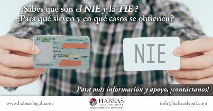 ¿Sabes qué es el NIE y la TIE y el uso que tienen para ti como extranjero?