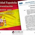 La Nacionalidad Española y el estado de tramitación de expedientes ante la crisis sanitaria covid-19