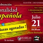 """""""El proceso de obtención de la Nacionalidad Española"""" – sesión informativa gratuita"""
