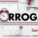 """""""Sólo Prórrogas"""" – sesión informativa gratuita – Enero 2019"""