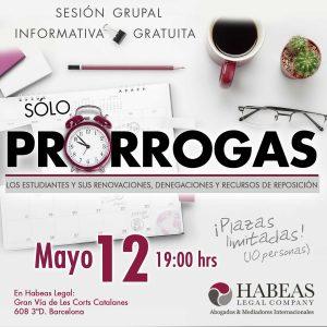 Sesión informativa gratuita de Habeas Legal Company, abogados internacionales, sobre las prórrogas de estudio para estudiantes extranjeros.
