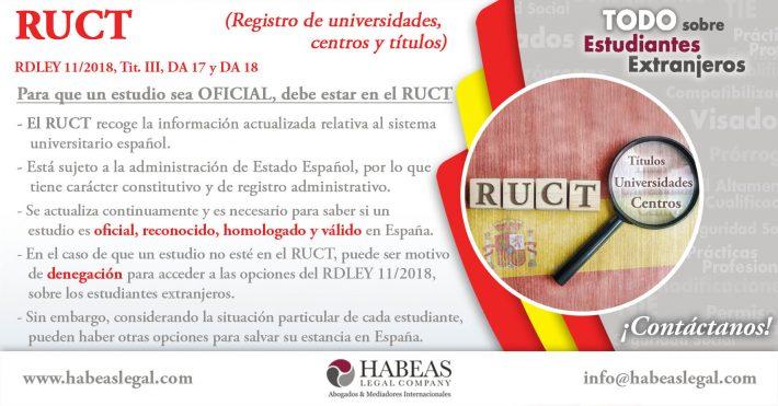 El RUCT y el Marco Europeo de Cualificación Profesional para estudiantes extranjeros y sus residencias en España