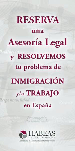 Reserva una asesoría legal y resolvemos tu problema de INMIGRACIÓN Y TRABAJO EN ESPAÑA