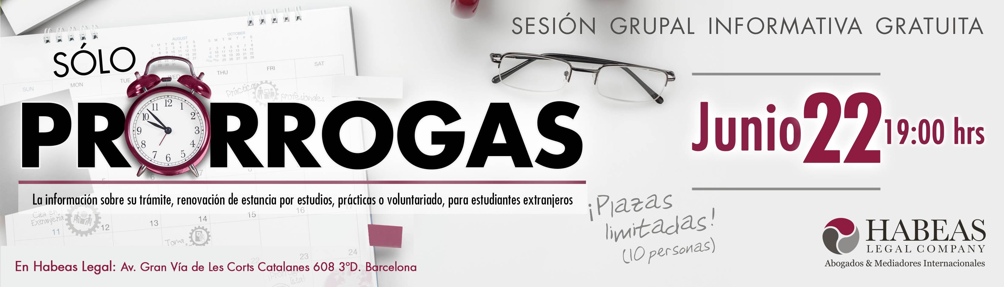 "SlidePrórrogas Jun22 - Inscripción evento ""Sólo Prórrogas"", Junio 22, 2018"