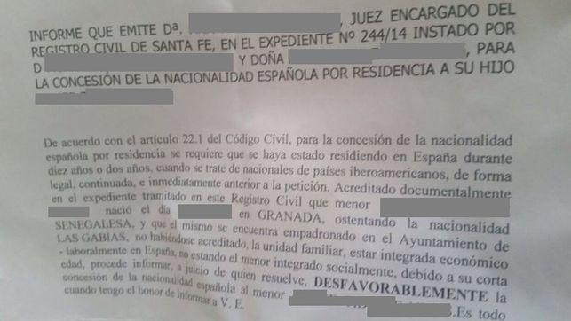 """Deniegan la nacionalidad a un niño de dos años nacido en España por """"no estar integrado"""""""