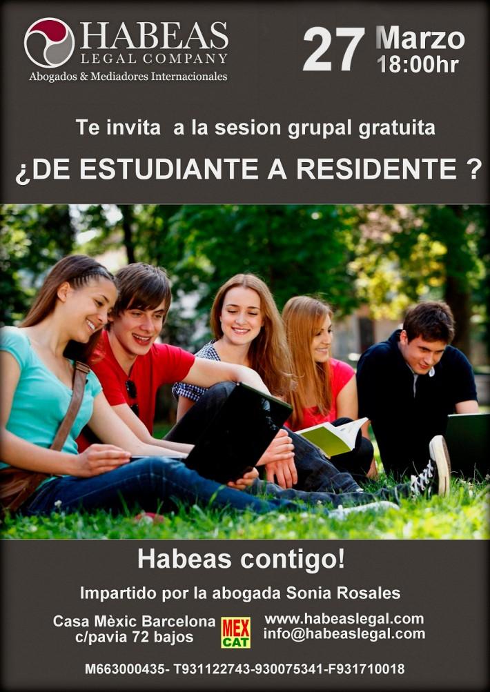 Charla de estudiante a residente