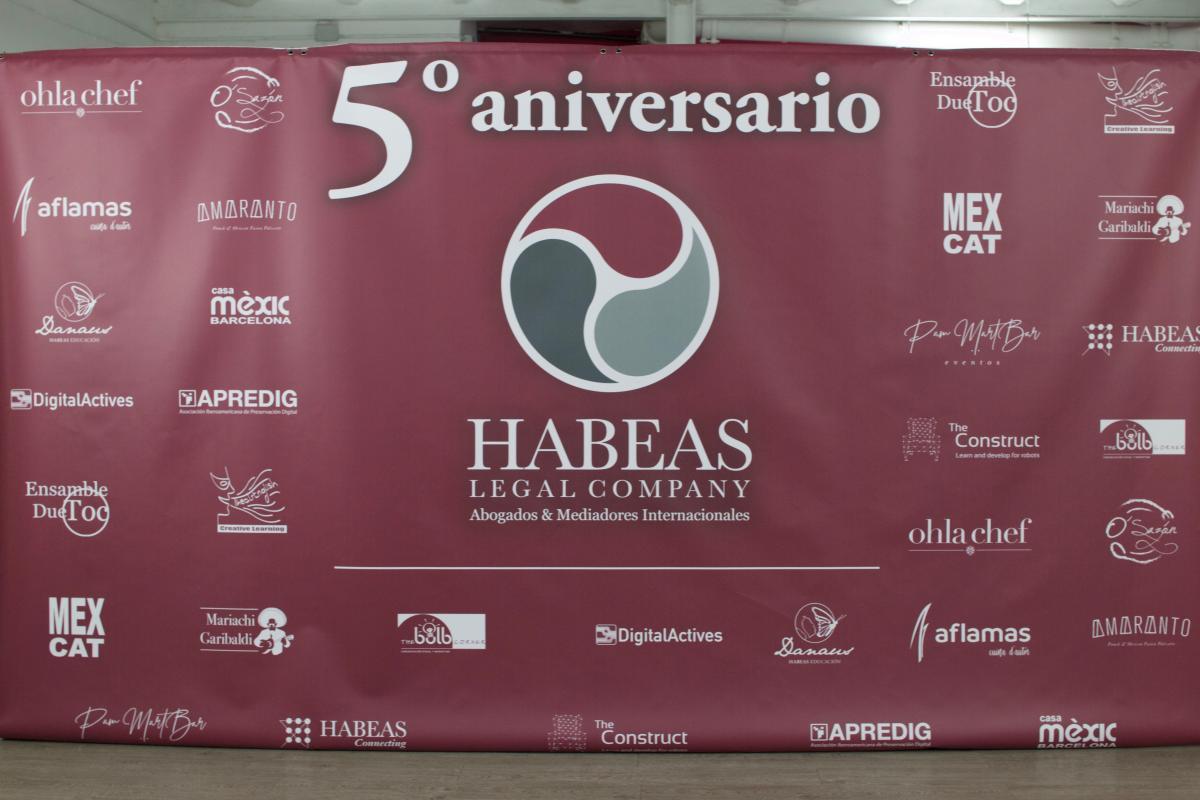 Habeas Legal 5º aniversario Photocall